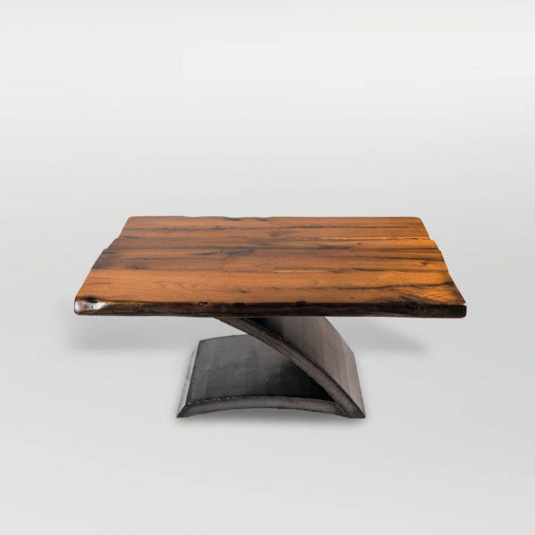 couchtisch beistelltisch aus altholz stahl barrique m bel barrique m bel. Black Bedroom Furniture Sets. Home Design Ideas