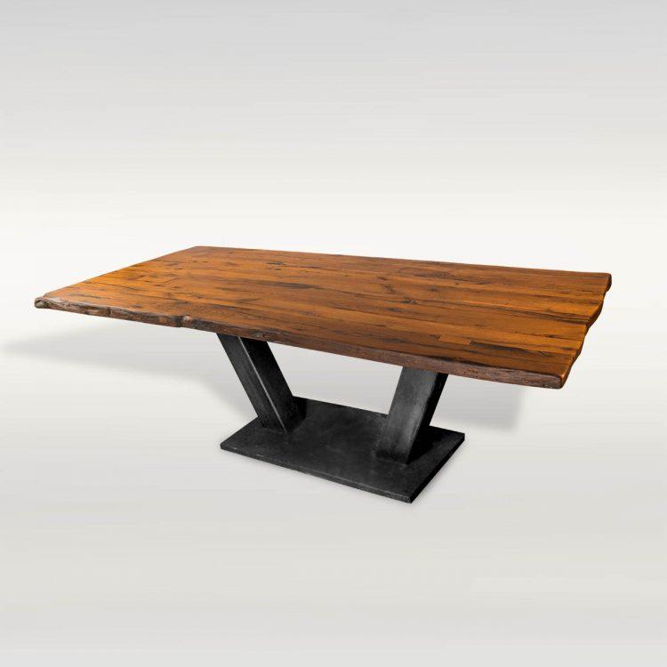 Esstisch aus Altholz & Stahl - Barrique Möbel