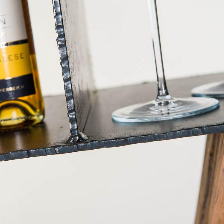 Säulen Regal aus Altholz & Stahl - Barrique Möbel
