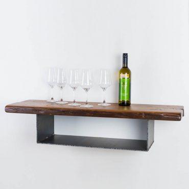 Sideboard, Wandregal aus Altholz & Stahl - Barrique Möbel aus Österreich