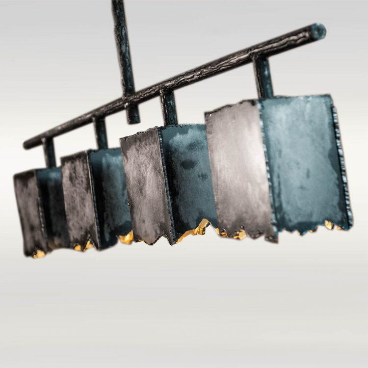Tischleuchte / Tischlampe aus Stahl - Barrique Möbel