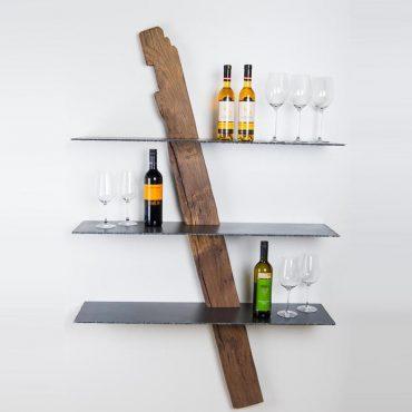 Designer Weinregal / Wandregal - Barrique Möbel aus Österreich